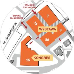 Plan pawilonów wystawowych